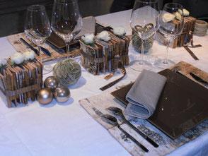 Tables de fête (Noël)