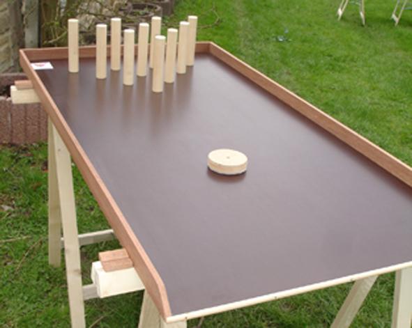 jeux en bois - bowling sur table