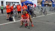 Spectacle de rue mini vélo